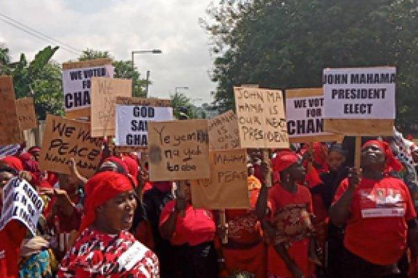 Some NDC women demonstrate in Kumasi