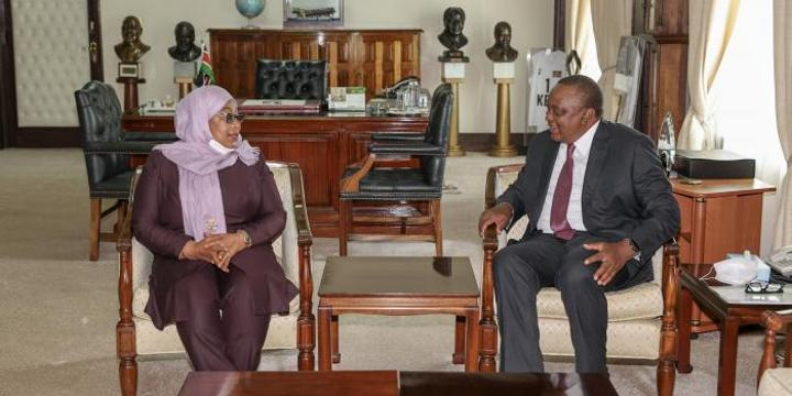 Uhuru & Suluhu Sign Ksh100 Billion Deal