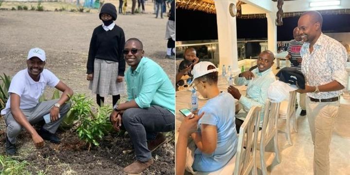 Davidson Wakairu: Murathe's Son Marks World Environmental Day in Style [PHOTOS]