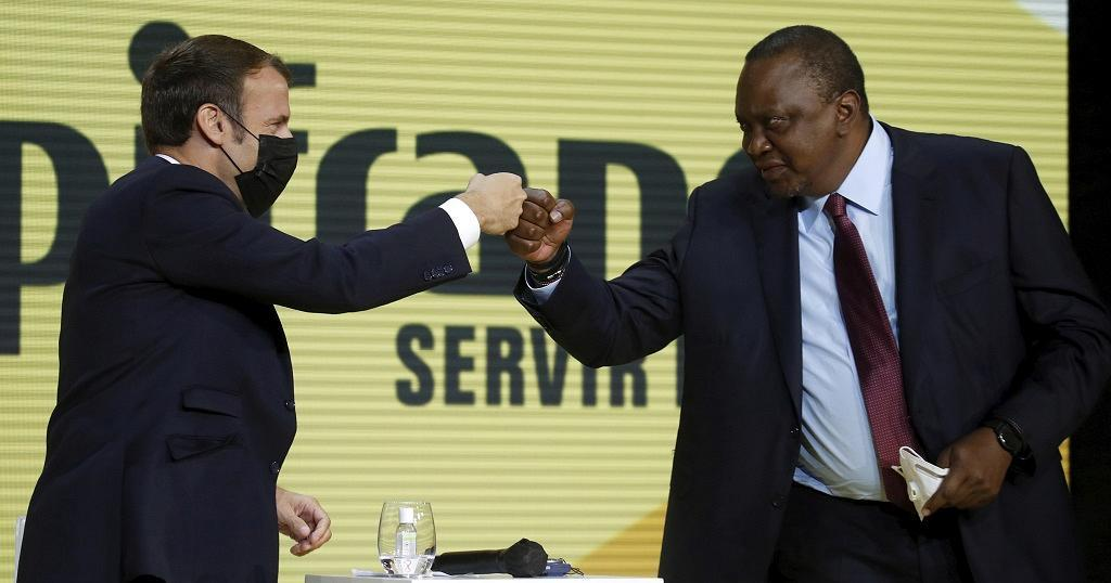 Third meet for Kenyatta, Macron as France courts east Africa