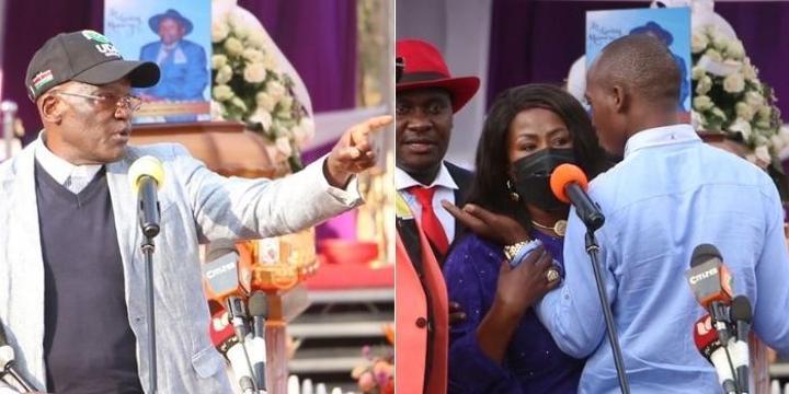 Wavinya Ndeti, Muthama In Near Fist Fight At Burial [VIDEO]
