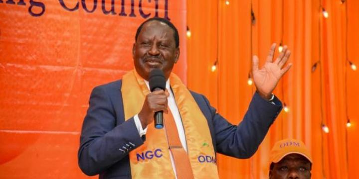 Raila Slams Mudavadi Allies Protesting His Western Visit, Ask for 2022 Support