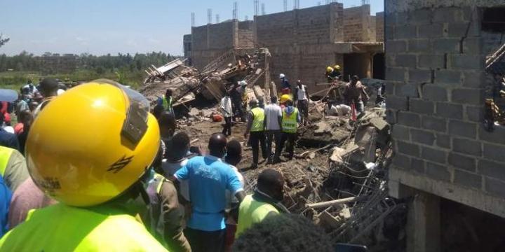 Twelve Rescued as Kisumu Building Collapses