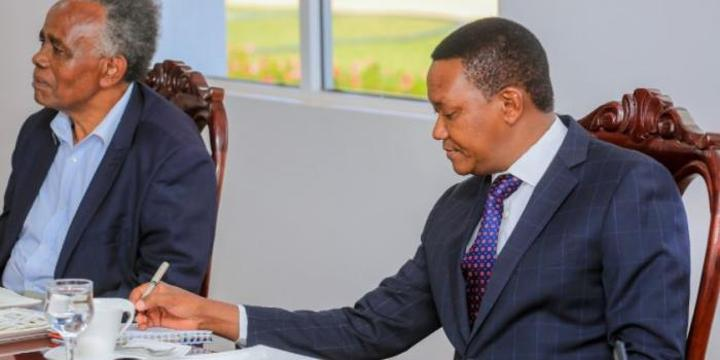 Alfred Mutua Leads in Building Swimming Pool at Public School