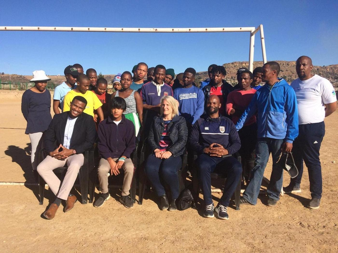 UK visitor graces Lesotho Rugby Academy