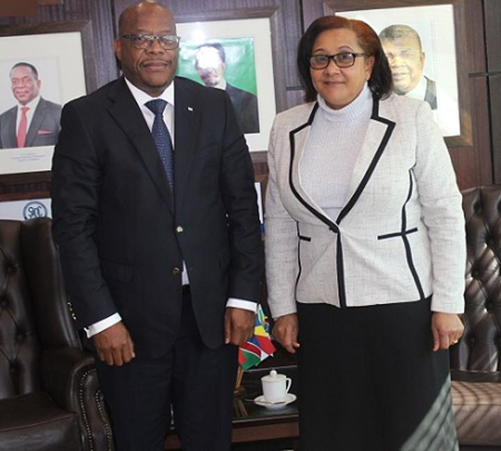 Lesotho Minister of Foreign Affairs meets the SADC Executive Secretary
