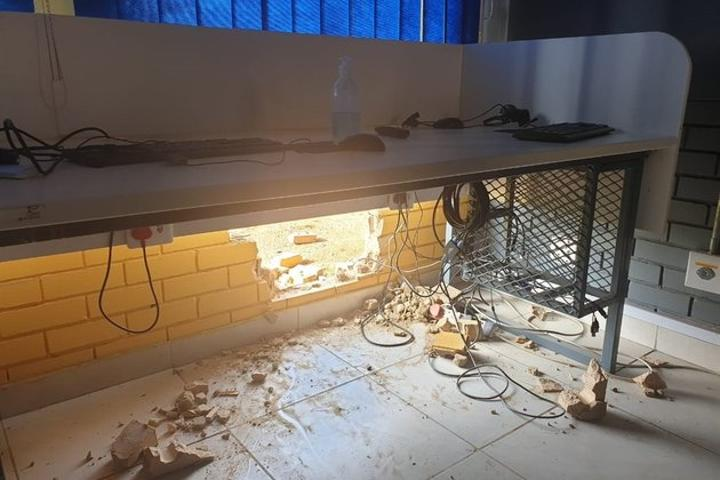 Thieves take byte out of wall to steal school's computers