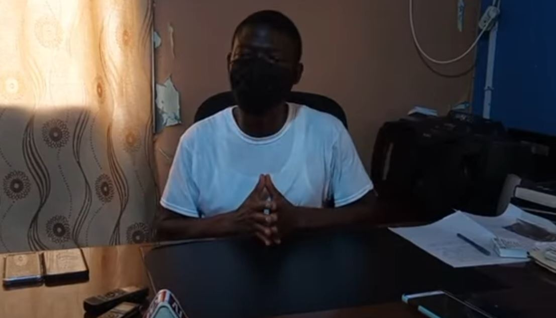Yekeh Y. Kolubah Speaks to the Press