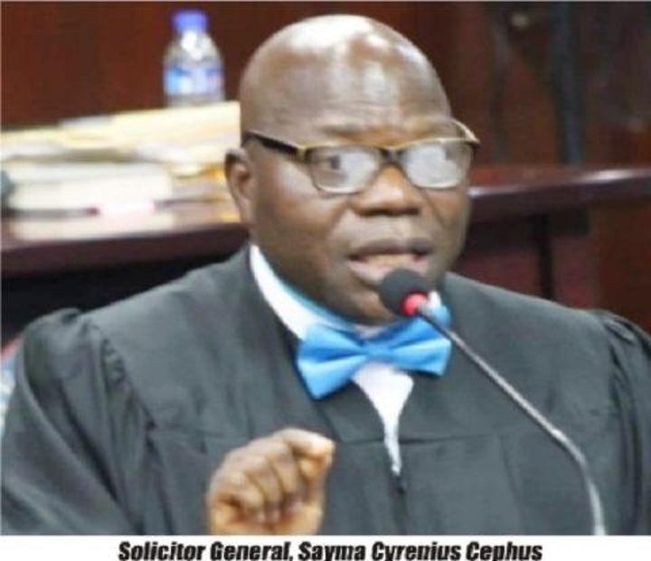 Liberia's Solicitor General Cllr. Sayma Syrenius Cephus Accuses Several Of Plot