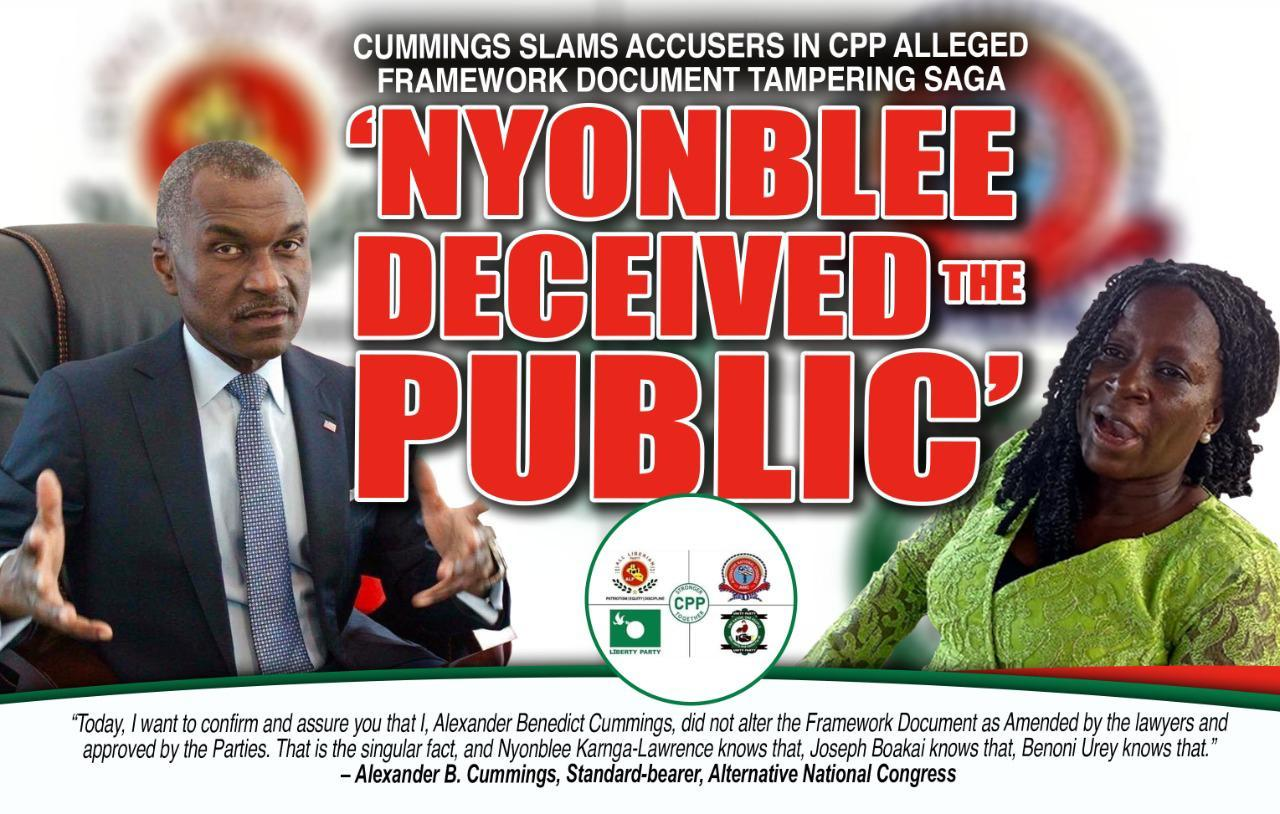 Cummings Hint Witch-hunt in CPP; Calls for Lawyers' Validation of Investigative Findings on Alleged Framework Tampering
