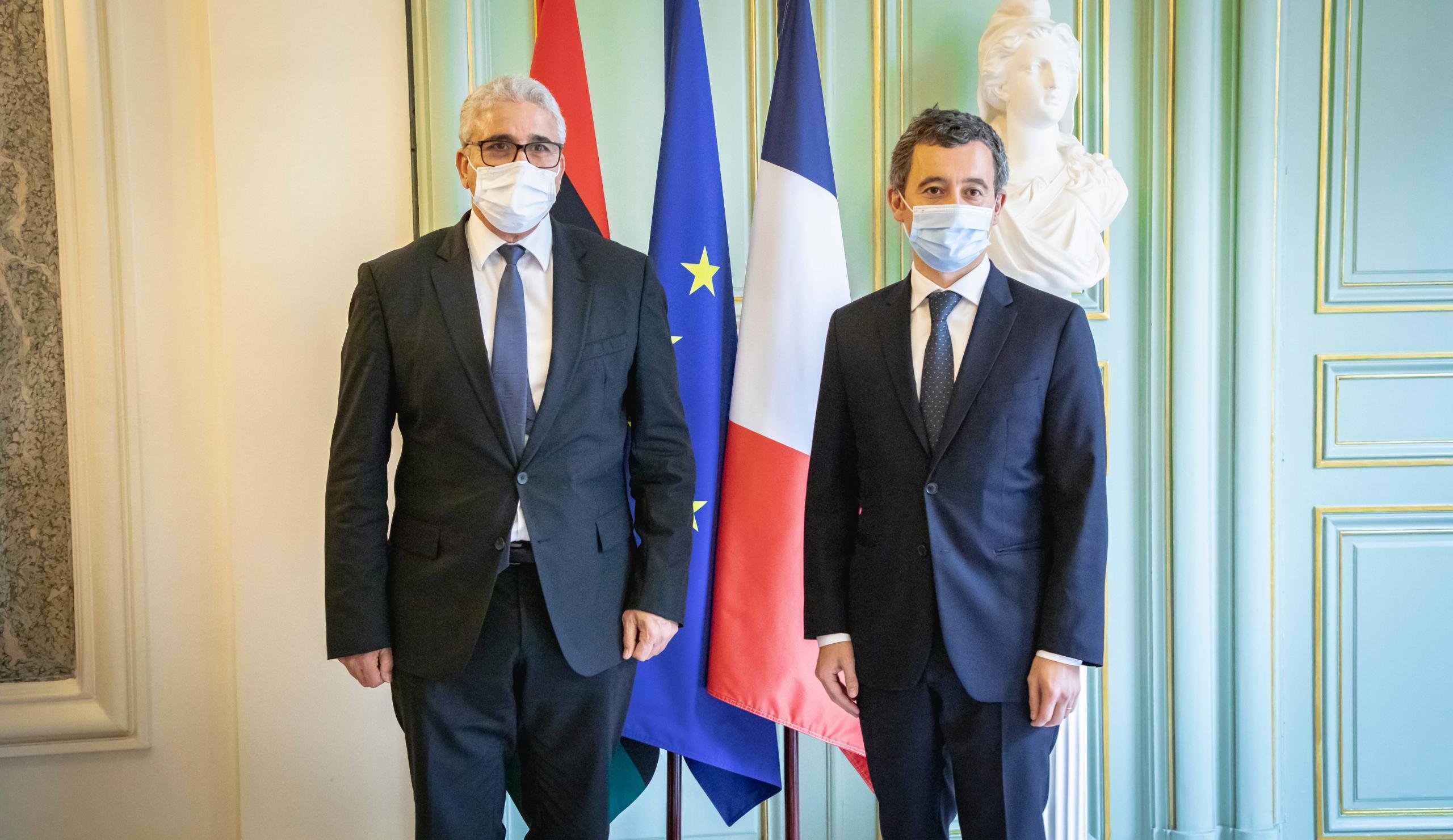 باشاغا يتفق مع نظيره الفرنسي على تدريب الشرطة الليبية