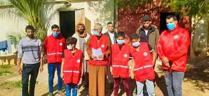 الهلال الأحمر الليبي ينظم حملة توعوية من كورونا للجاليات العربية