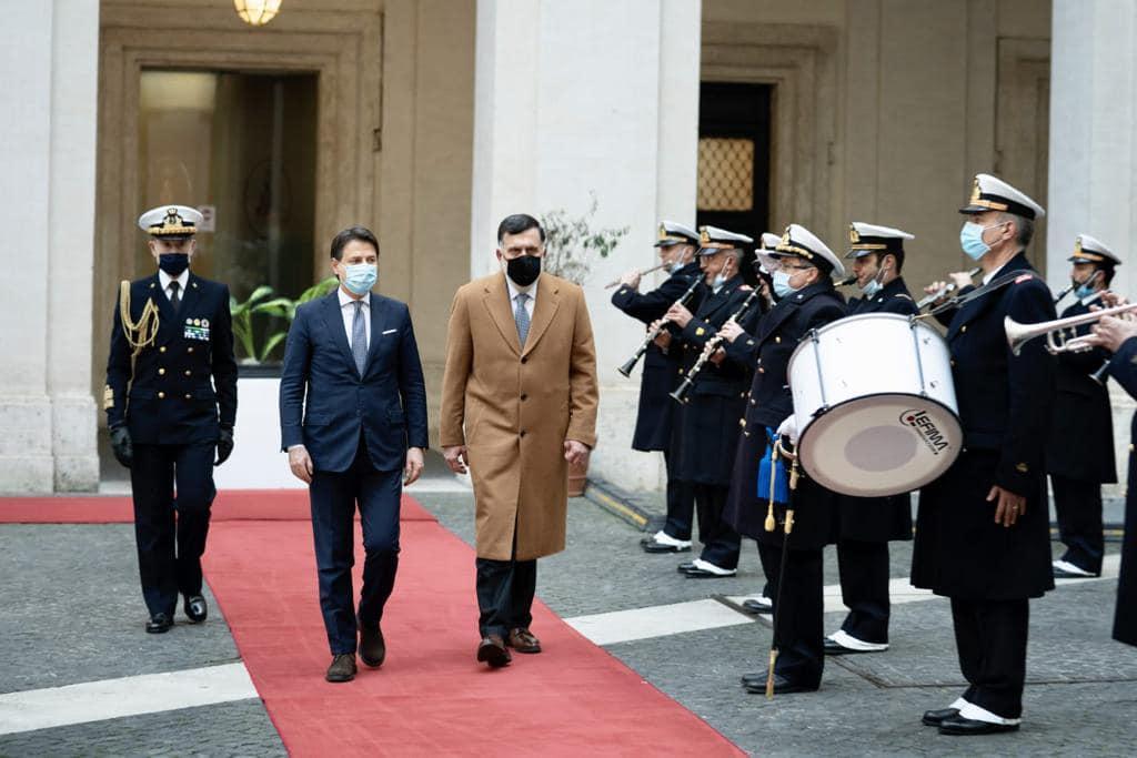 كونتي يؤكد للسراج دعم إيطاليا الكامل للحوار الليبي