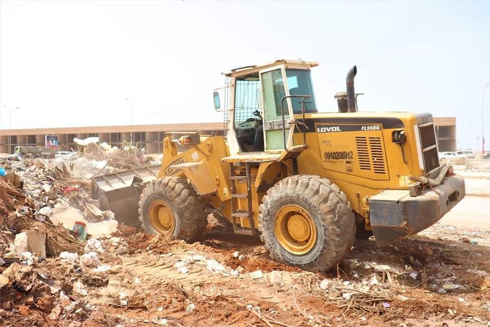 التخلص من مخلفات البناء في بنغازي