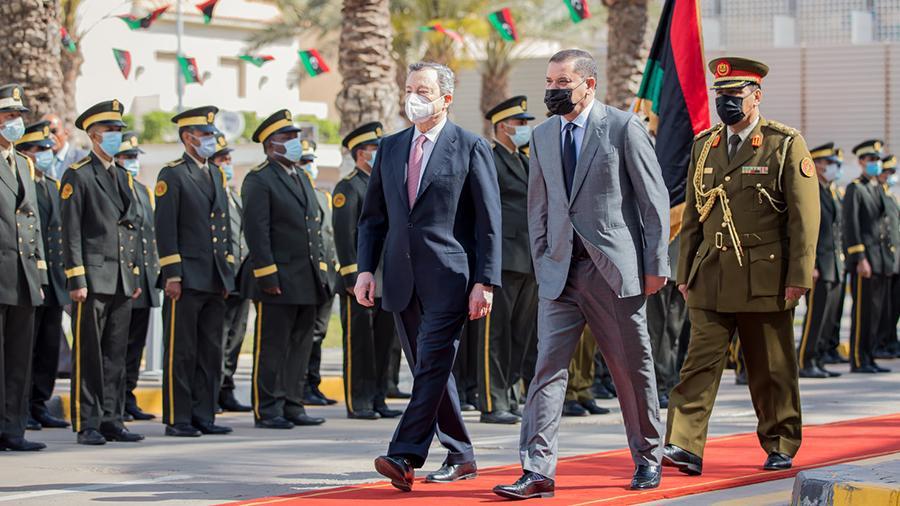 وصول رئيس الوزراء الإيطالي إلى طرابلس