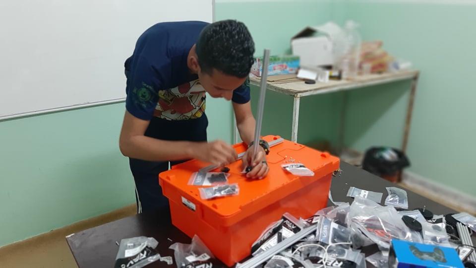 """""""مايند تيك"""" من مدينة هون يتأهب لبطولة ليبيا للروبوت"""