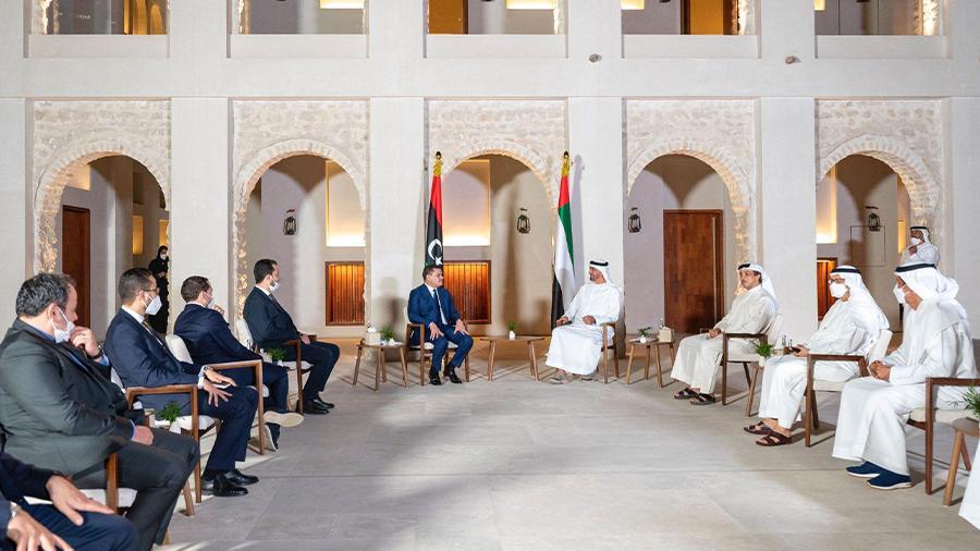 الدبيبة يعلن من أبوظبي عن تطلعه لموقف دولي موحد تجاه ليبيا