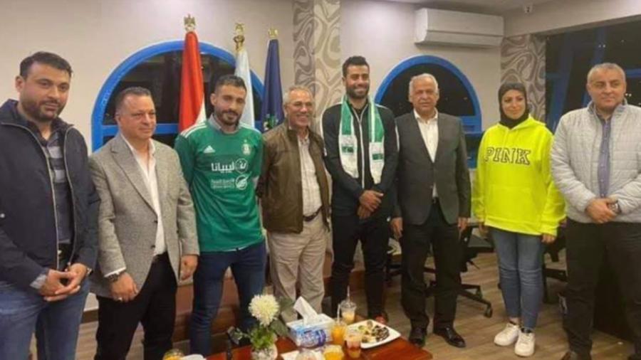إدارة نادي الأهلي طرابلس مع حسام حسن ومحمد الترهوني