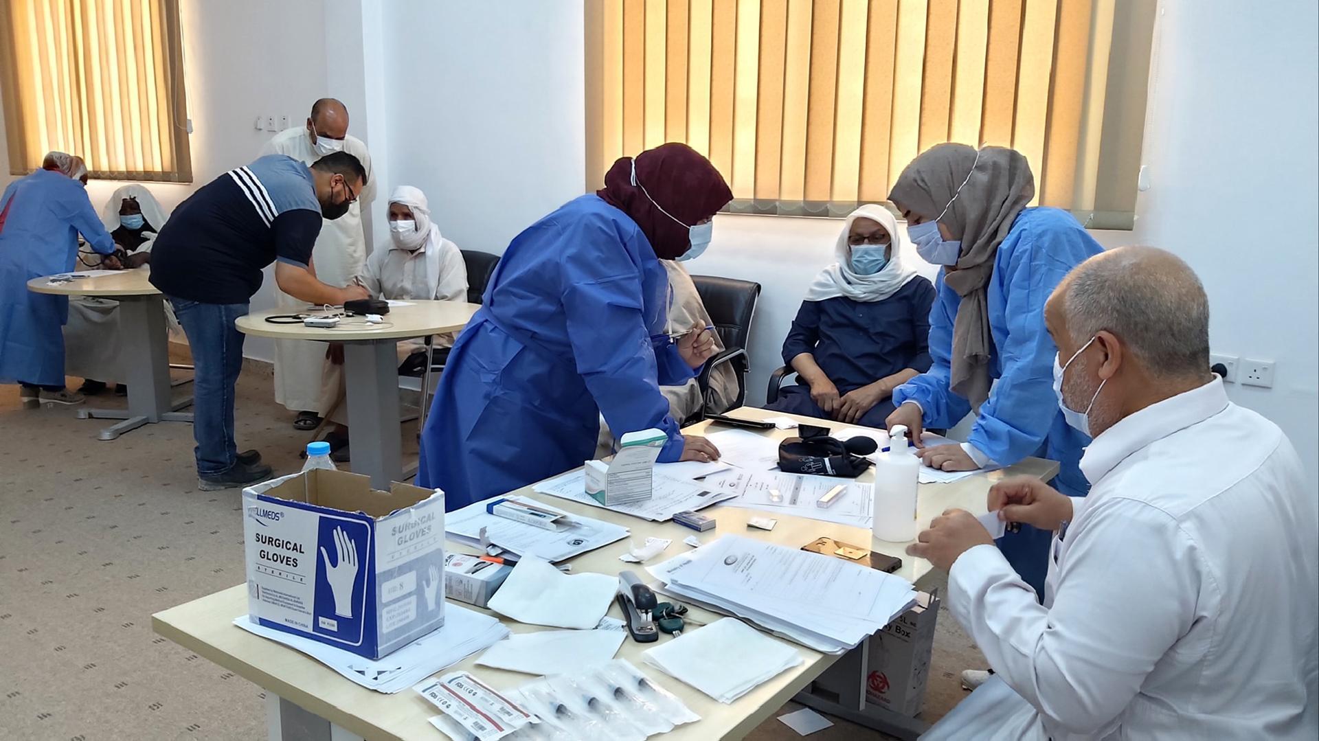 انطلاق الحملة الوطنية للتطعيم ضد كورونا في اجدابيا