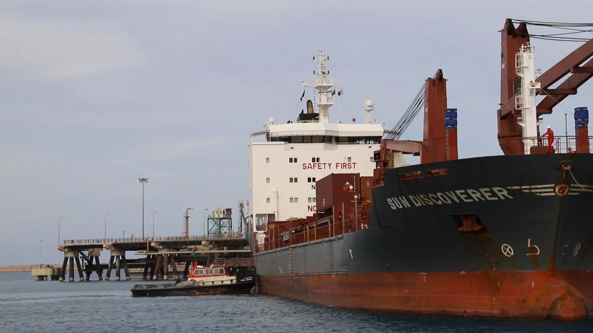 تعزيز قدرة ميناء راس لانوف بقاطرة بحرية جديدة