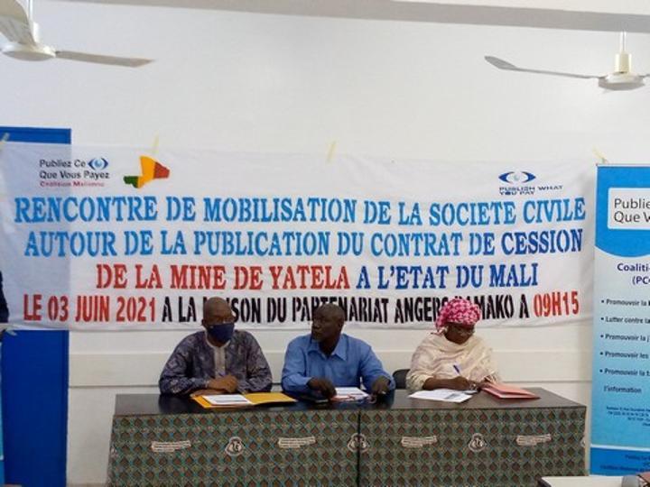 Le contrat de cession de la mine de atela-Sa à l'état du Mali : Les inquiétudes de la coalition PCQVP-Mali