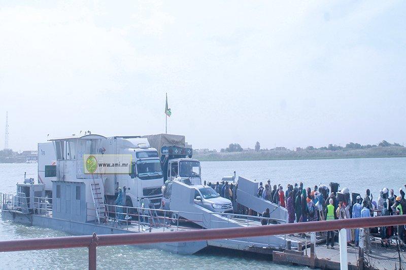 استئناف حركة النقل بين موريتانيا والسنغال بعد توقفها لساعات