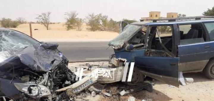وفاة أربعة أشخاص في حادث سير على طريق نواكشوط روصو