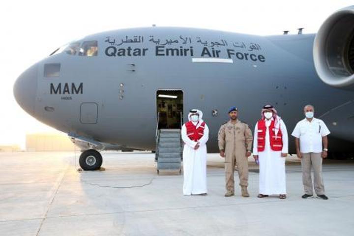 قطر ترسل مساعدات طبية لمستشفى حمد ببوتلميت (صور)