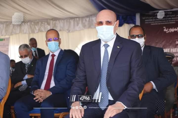 الرئيس غزواني يضع الحجر الأساس لمشروعي جسرين في نواكشوط( صور)