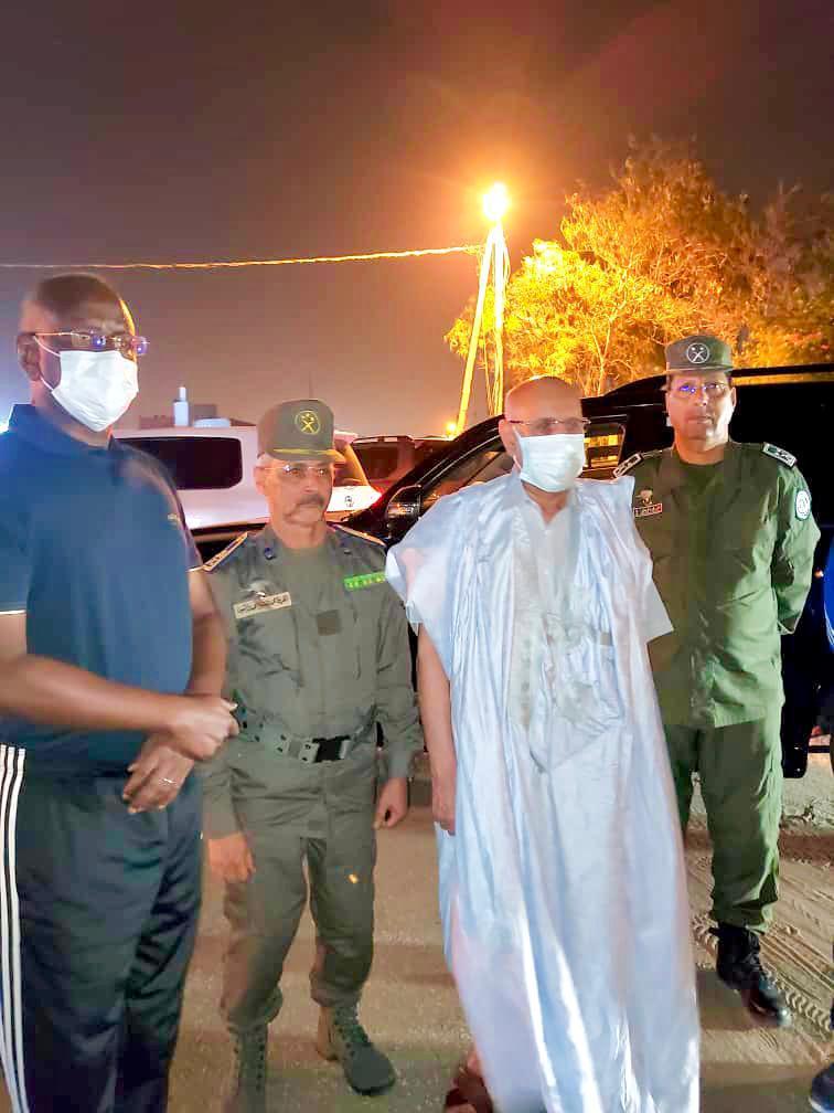 الرئيس غزواني يزور الوحدات المكلفة بأمن ولايات نواكشوط