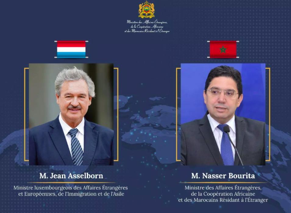 ناصر بوريطة يتباحث مع وزير خارجية اللوكسمبورغ