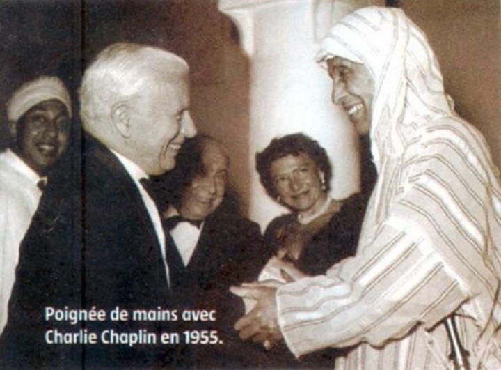 تاريخ : عندما التقى تشارلي شابلن بالتهامي الكلاوي في مراكش