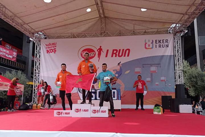 العداء المغربي صالح الشيباني يحطم الرقم القياسي لسباق إسطنبول الدولي على الطريق