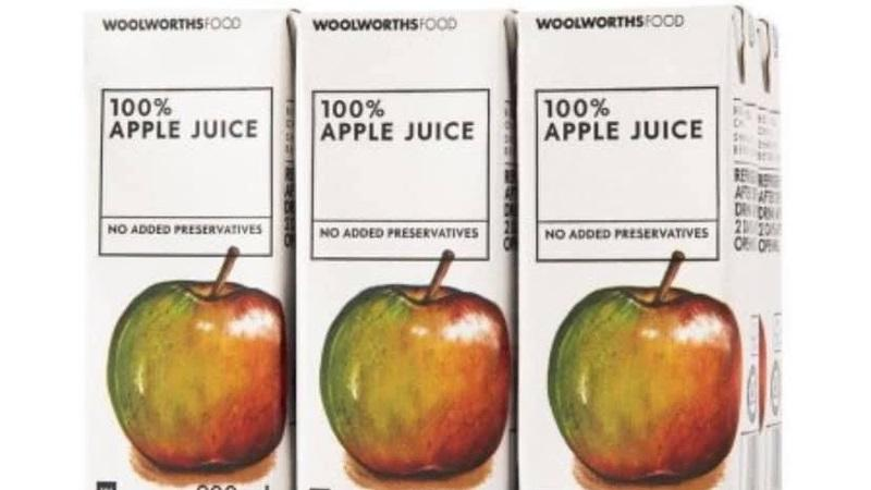 Woolworths recalls some apple juice cartons due to mould toxin