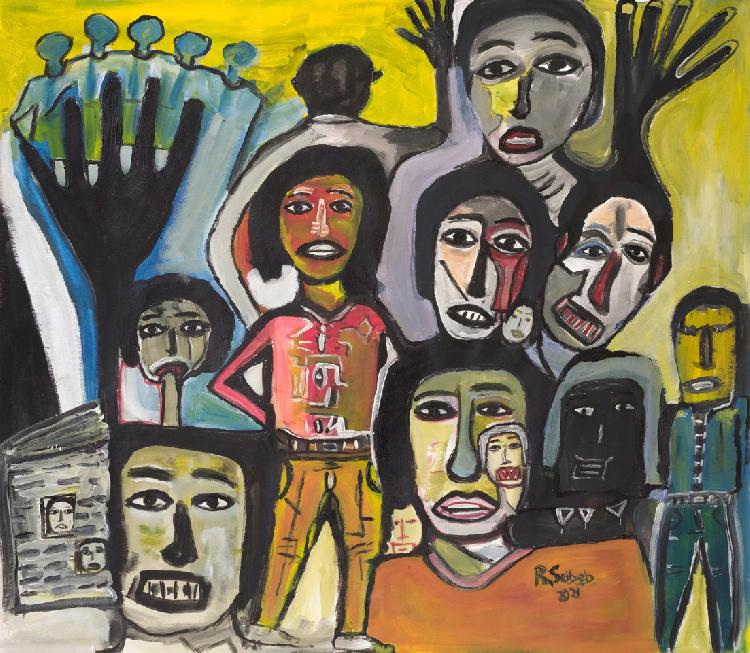 Seibeb's Press Freedom painting featured abroad - The Namibian