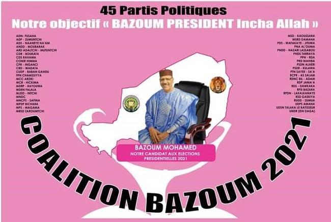 Naissance d'une coalition politique ''Bazoum 2021'