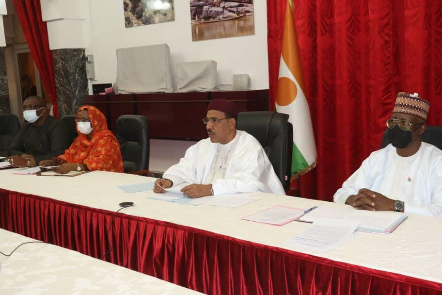 Le Président Bazoum Mohamed à la réunion virtuelle des chefs d'Etat et de gouvernement africains sur le changement climatique