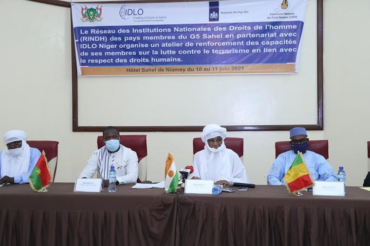 Niamey: Le RINDH organise un atelier sous régional sur le thème de la lutte contre le terrorisme et le respect des Droits de l'Homme
