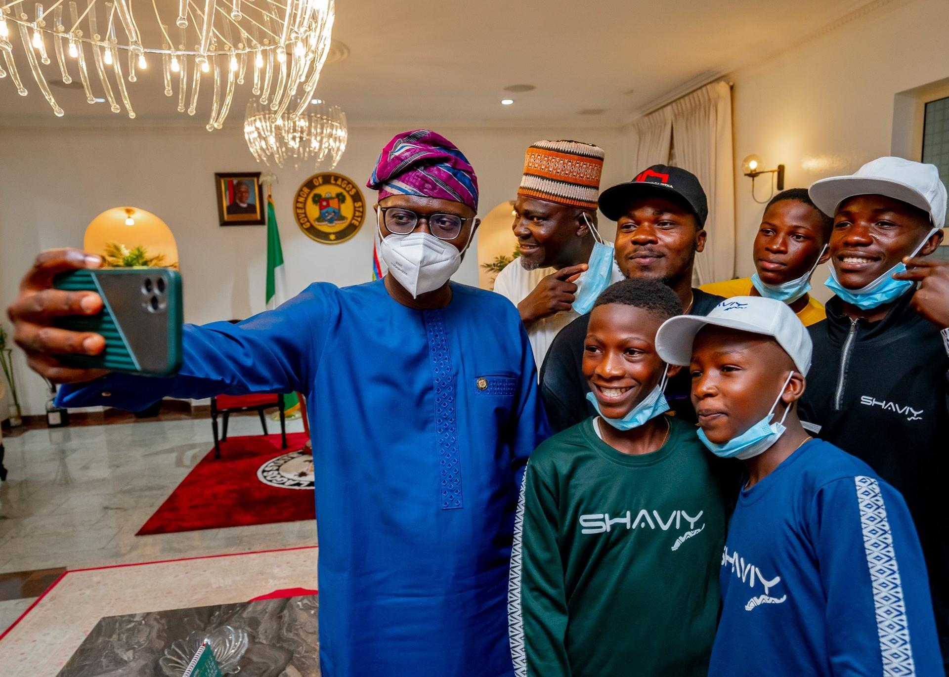 We are proud of you – Sanwo-Olu hosts Ikorodu Bois