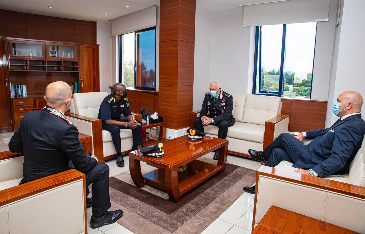 Italy's police chief Teo Luzi visits Rwanda