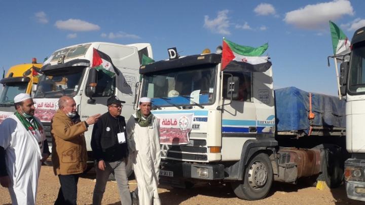 قافلة تضامن جزائرية تصل مخيمات اللاجئين الصحراويين