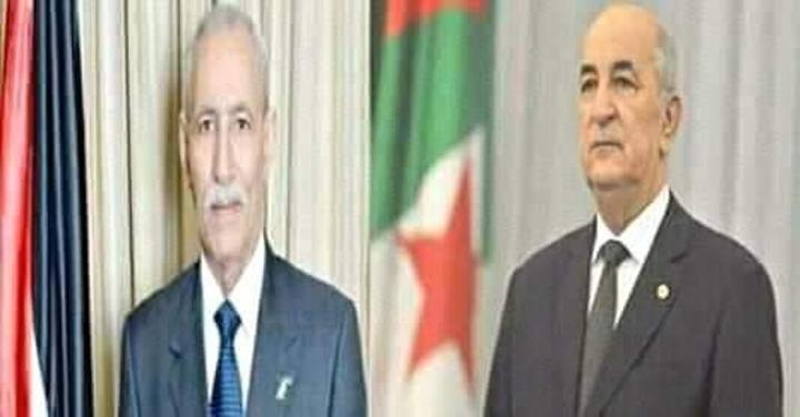 الرئيس الصحراوي يهنئ نظيره الجزائري بعودته لبلاده بعد رحلة علاجية