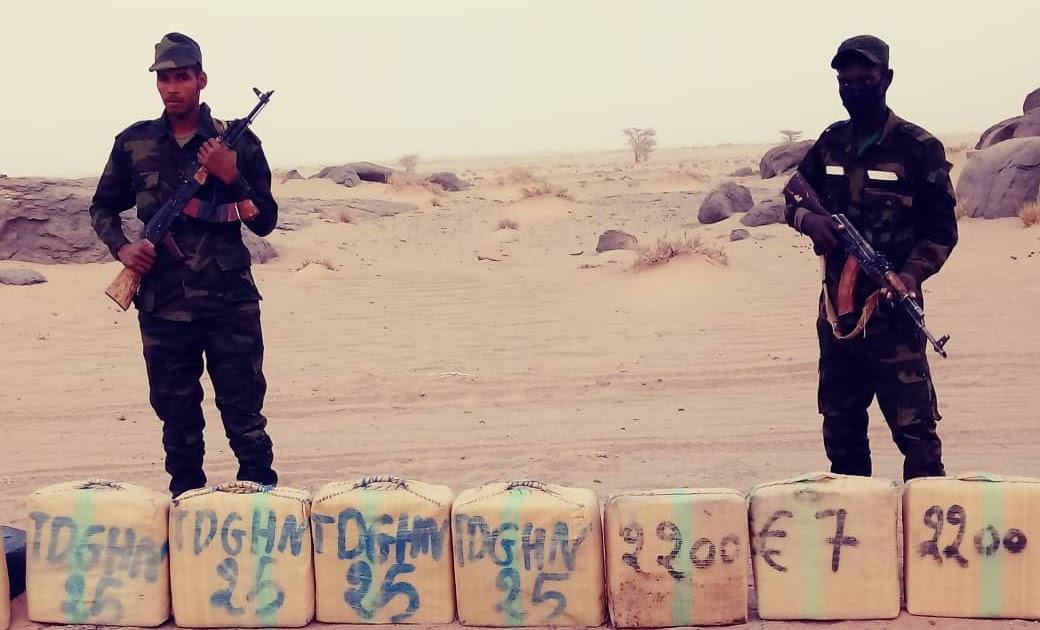 ⭕وزارة الدفاع الوطني : وحدة من وحدات جيش التحرير الشعبي الصحراوي تحجز كمية من المخدرات مصدرها المغرب