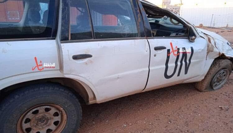 """اصابة ثلاثة أشخاص إثر إنقلاب سيارة تابعة لبعثة """"المينورسو"""" بمنطقة المحبس"""