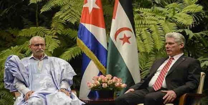 الأمين العام لجبهة البوليساريو يهنئ ميغيل دياز كانيل بعد إنتخابه على رأس الحزب الشيوعي الكوبي خلفا لراؤول كاسترو
