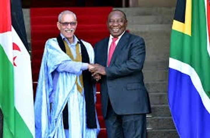 الرئيس الصحراوي ابراهيم غالي يهنئ نظيره الجنوب أفريقي بمناسبة الإحتفال بيوم الحرية