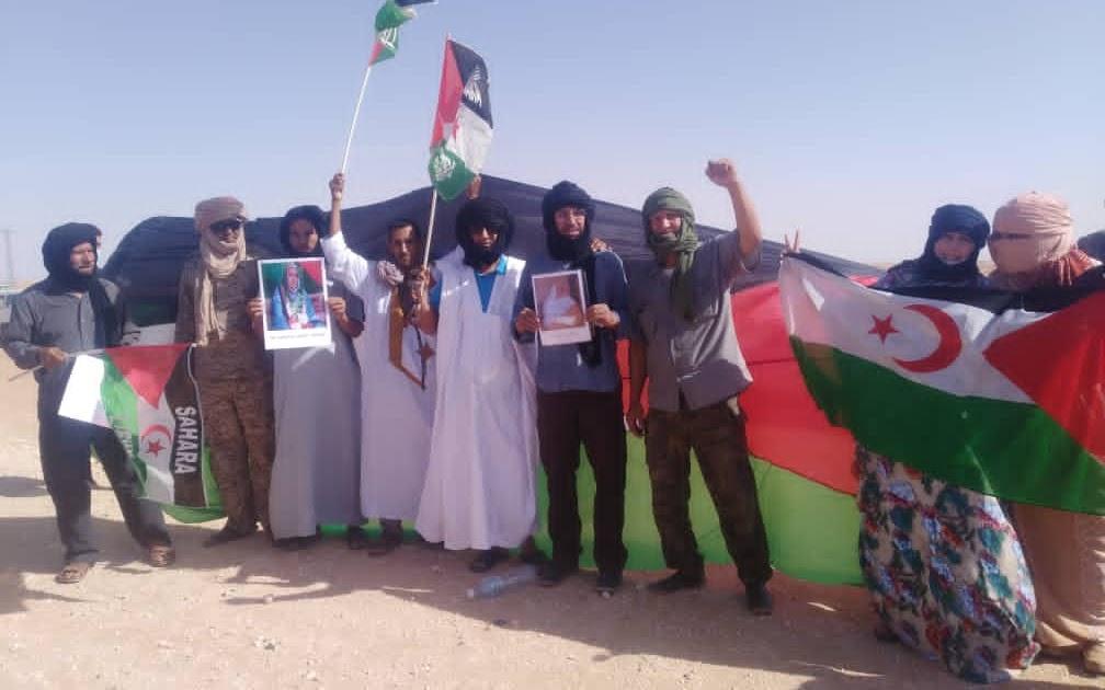 ريبورتاج مصور حول تظاهرة الجماهير الصحراوية المتضامنة مع أهالينا في الأرض المحتلة وجنوب المغربي