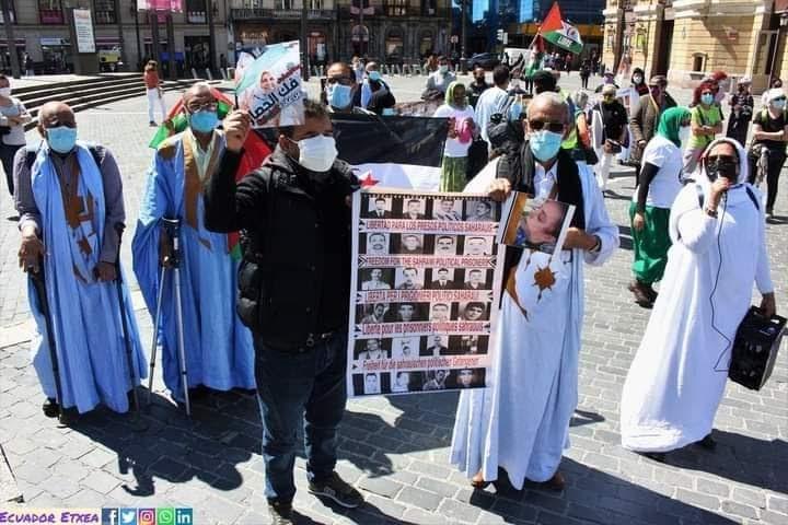 تظاهرة الجالية الصحراوية ببيلباو بمناسبة ذكرى إعلان الكفاح المسلح في صور