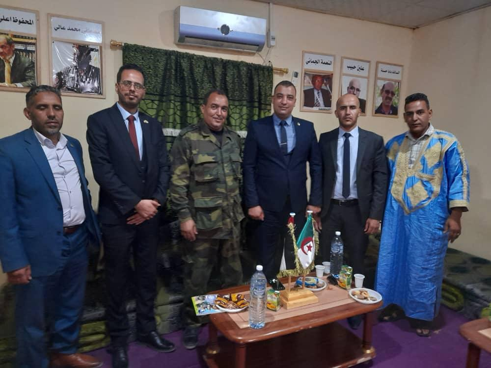 وزير الشباب والرياضة الصحراوي يجري لقاء مع رئيس ومسؤولي المنظمة الوطنية الجزائرية للشباب ذو الكفاءات العلمية والمهنية