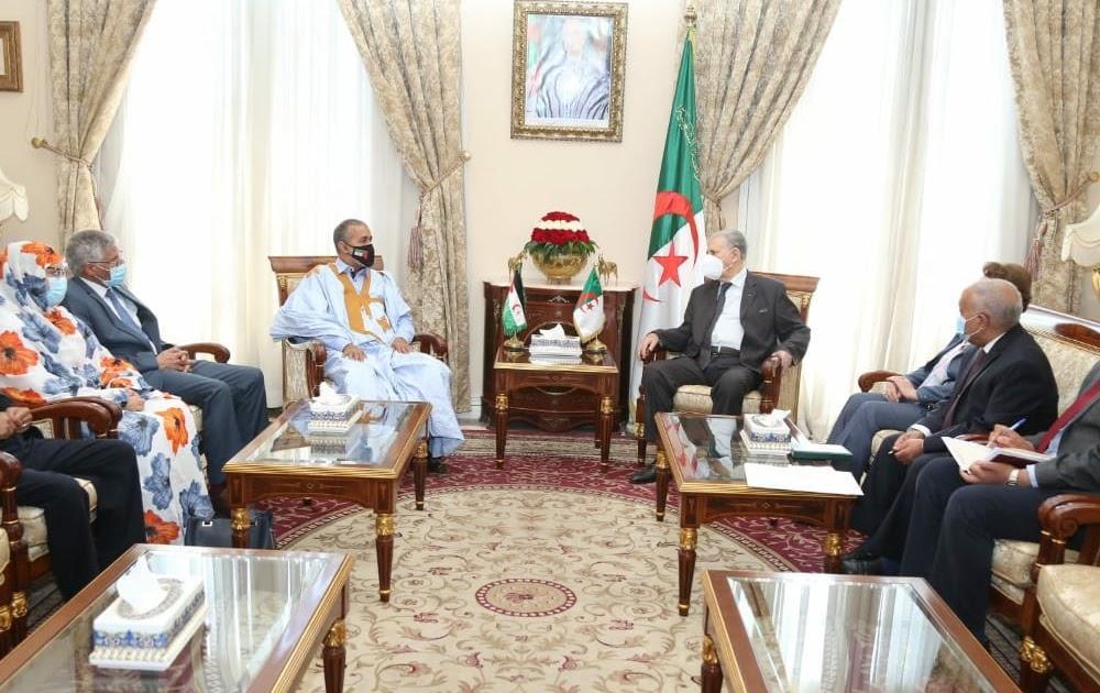 رئيس مجلس الأمة الجزائري يستقبل نواب الجمهورية الصحراوية بالبرلمان الافريقي
